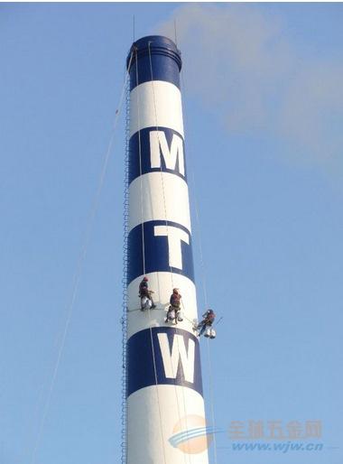 混凝土烟囱爬梯防腐安装