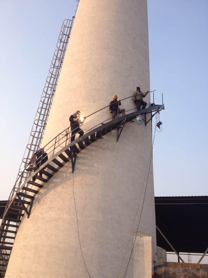 电厂锅炉烟囱安装旋转爬梯平台欢迎光临