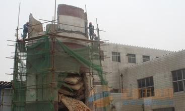 竹山县烟囱刷红白航标漆公司欢迎访问