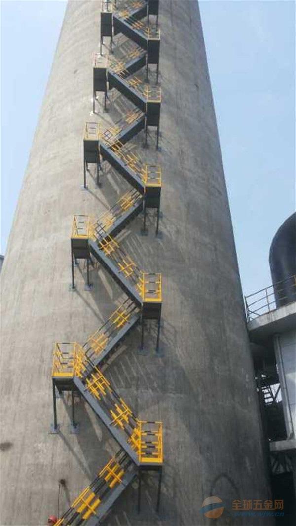 火力发电厂烟囱之字梯安装