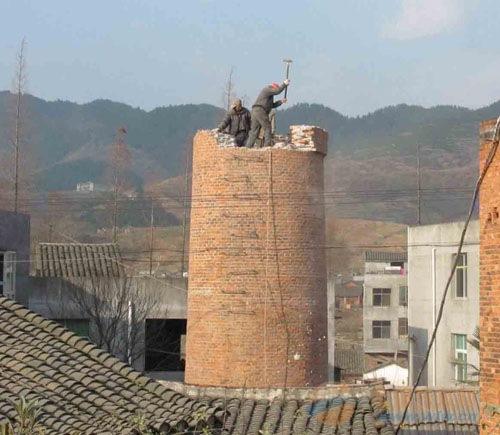 田阳县砖瓦厂烟囱爆破施工团队