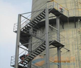 范县烟囱旋转爬梯制作安装公司欢迎访问