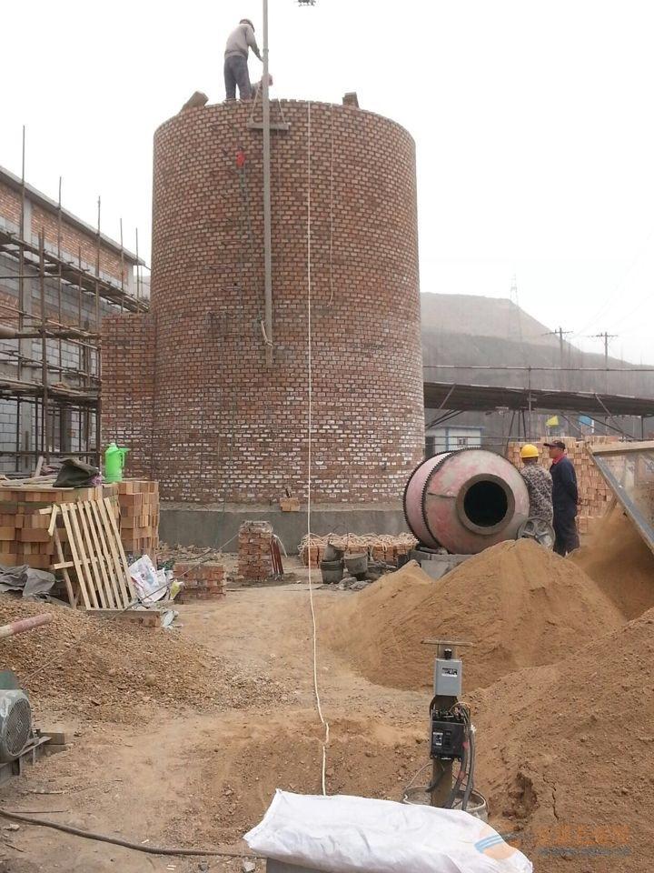 砖垒烟囱、砖砌烟囱、砖混烟囱新建多少钱一米