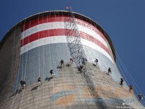 凉水塔内壁防腐费用|凉水塔沥青防腐方案|冷却塔爬梯除锈刷油漆