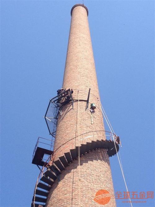 水泥烟囱安装旋转梯;
