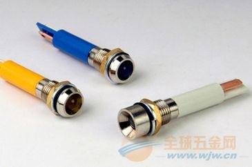 金属防水LED指示灯 IP67 开孔8MM 颜色可选