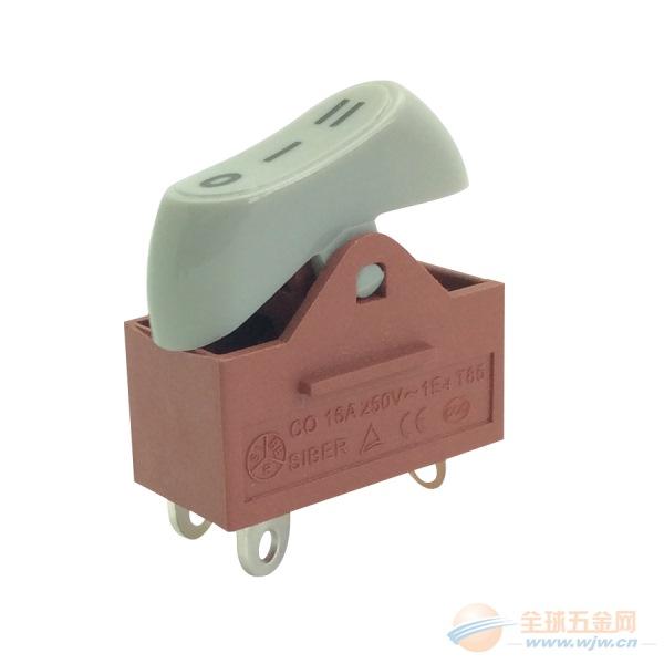 施霸电器生产KND-2-B1电吹风开关鹅蛋型电吹风开关,船型