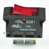 SCB-L5过流保护开关,UL过载保护开关负载开关,翘板开关