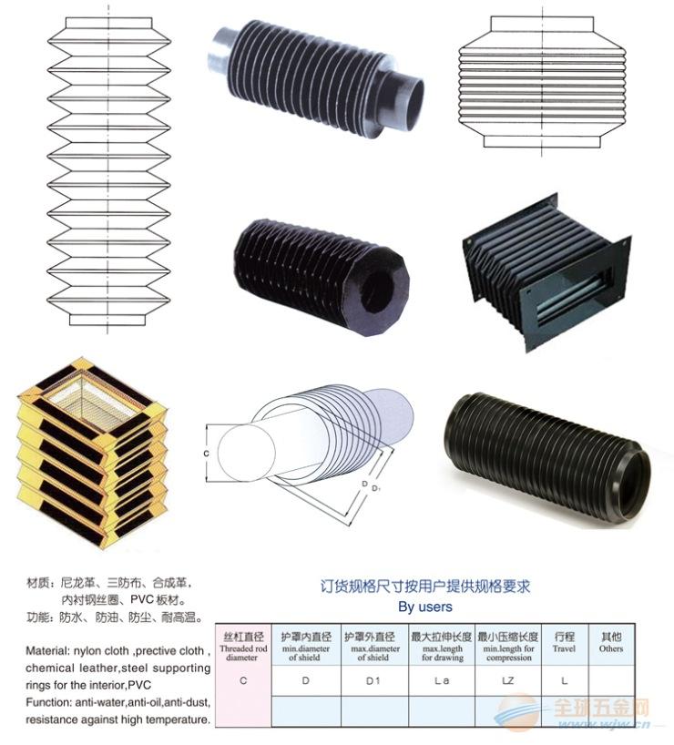 福建*漳州 丝杠防护罩 正规厂家