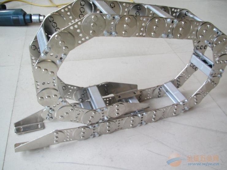 供应 南通机床中德牌钢制钢铝拖链 金属拖链超高标准