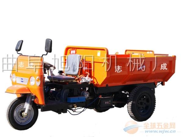 工程三轮车柴油车大马力燃油自卸翻斗农用建筑工地用运输拉砖拉料
