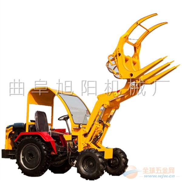 推荐旭阳小型装载机 06型小铲车 农用抓草机夹木机