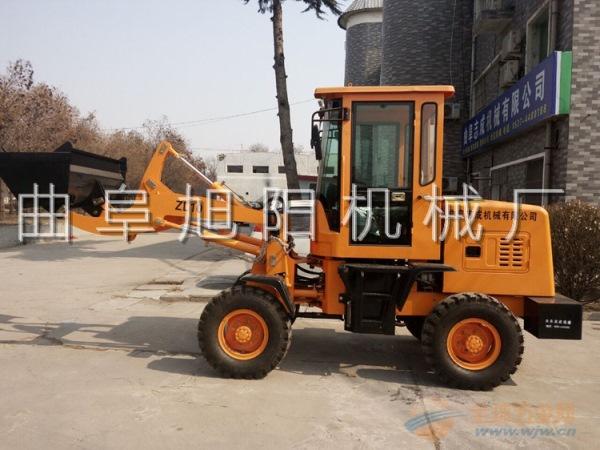 推荐四轮驱动小型装载机 前卸式小铲车 多功能农用上料车