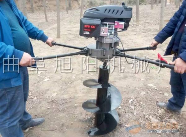 推荐8马力树木中指挖坑机电线杆打眼机挖窝机钻洞