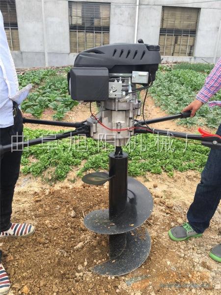 推荐八马力 树木种植挖坑机电信杆打眼机汽油钻洞机