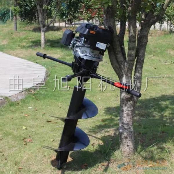 供应旭阳8马力汽油工程地钻机果树种植施肥挖坑机
