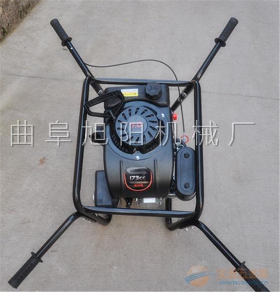 新款便携式电线杆打眼机 功率手持式挖坑机汽油四冲程地钻