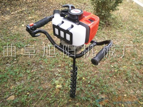 多功能地钻挖坑机打桩工程小型钻地挖洞机汽油植树机旭阳直销