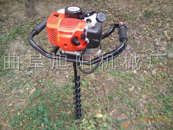推荐2.3马力树木中指挖坑机电线杆打眼机汽油钻洞机