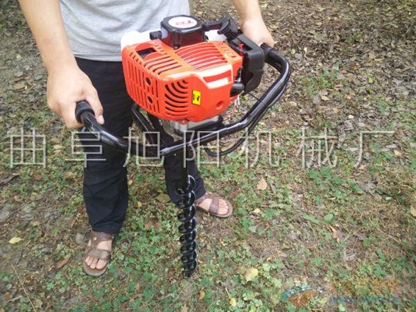 推荐2.3马力树木种植挖坑机电线杆打眼机挖窝机汽油钻洞机