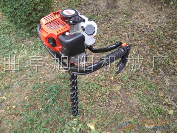 厂家直销汽油二冲程挖坑机2.3马力手持式钻眼机工程地钻机