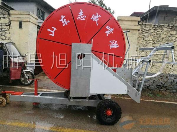 旭阳热销75-300大型喷灌机大型农用浇地机卷盘式自走喷灌机