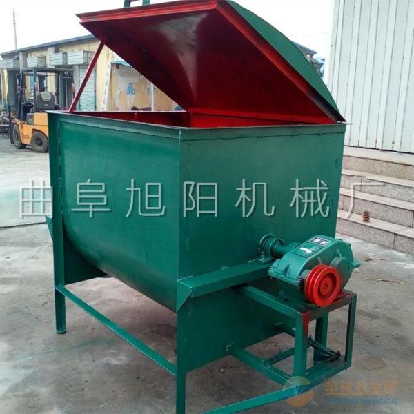 供应小型养殖饲料粉碎搅拌混合机 多功能卧式干粉搅拌机
