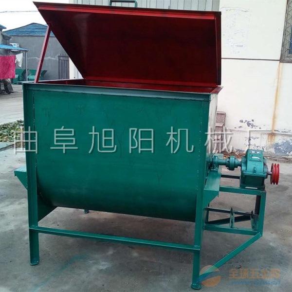 旭阳生产养殖场饲料搅拌机牛羊草料混料机卧式饲料拌草机混合机