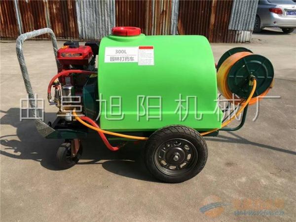 推荐300L推车拉管式汽油打药机高压手推式消毒除尘机