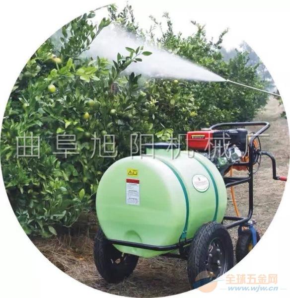 100升推车拉管式汽油打药机果树大棚花圃杀虫机喷雾机