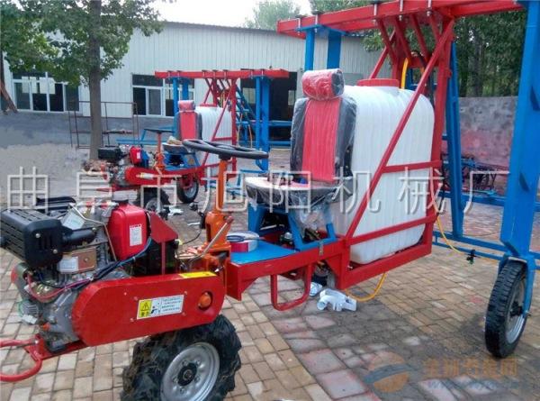 旭阳热销三轮自走式喷杆喷雾机柴油高杆作物打药机玉米杀虫喷药机