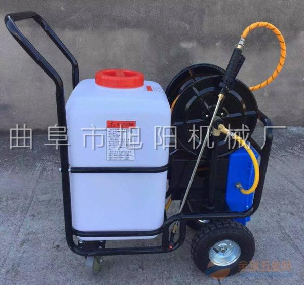 60升电动喷雾器 高压喷药管 拉管式果树打药机
