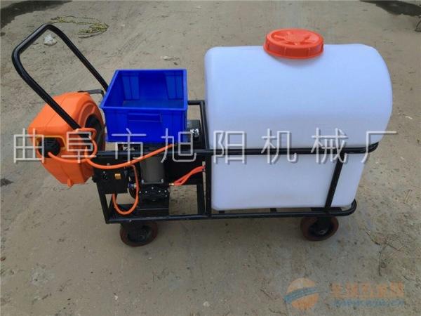 厂家直销旭阳105升推车式电动打药机蓄电池喷雾器大棚杀虫喷药车