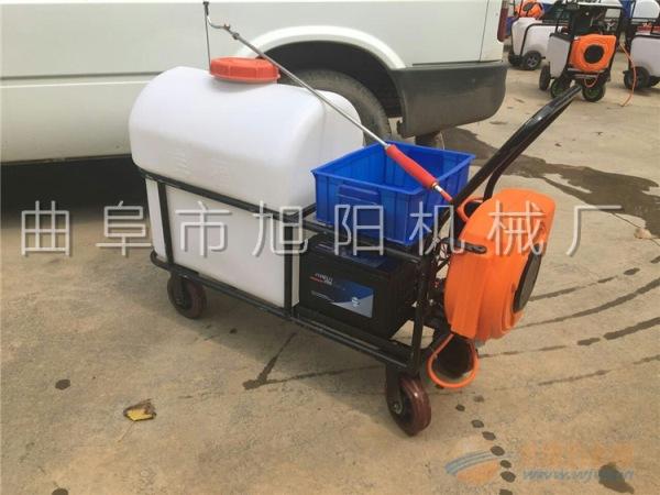 新款旭阳农用推车式喷雾器园林绿化电动洒水车手推式蓄电池消毒机