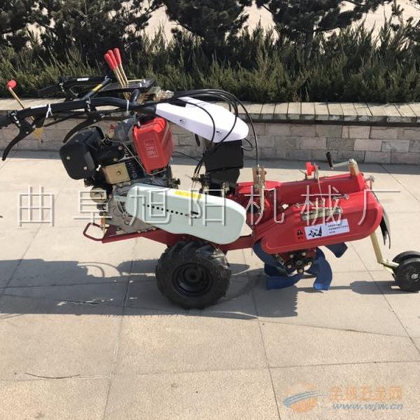 旭阳柴油耐用的封土机厂家 手推式旋耕开沟培土机图片 柴油封土机