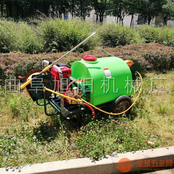 直销300升手推式打药机汽油高压杀虫喷雾器拉管式除尘杀菌机