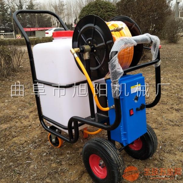新款推车式电动喷雾洒水机大棚菜地除虫打药机充电式喷雾器果树