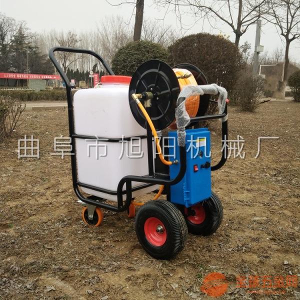 养殖场消毒机电动推车型喷雾机 60L手推式打药机旭阳