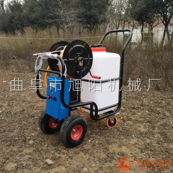 旭阳60l电动清洗车辆场地小型洒水机