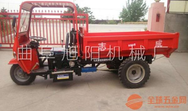 18马力电启动半棚清运车矿用三轮车柴油运输车三马子混凝土拉料车