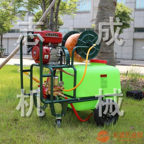100升拉管式打药机 汽油高压杀虫机 大棚果园喷雾器消毒机除尘机