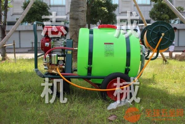 160L汽油拉管式高压打药机 手推大棚花圃杀虫机