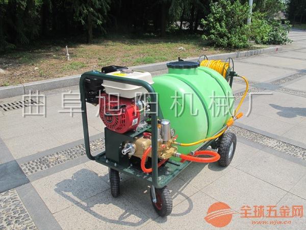 旭阳园林植保机械推车式高压打药机 160L汽油打药机