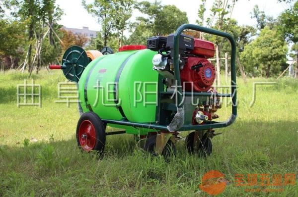 物业带桶推车式高压机动农药打药喷药机农用稻田汽油喷雾器打药车