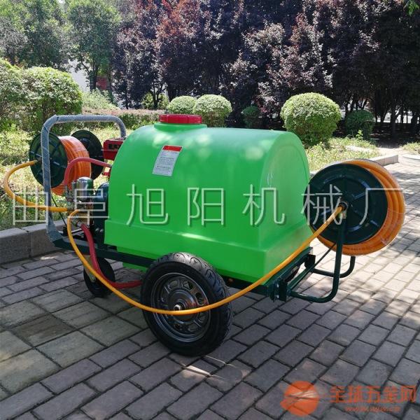 旭阳供应300升大棚打药机养殖场喷雾消毒机推车式汽油打药机