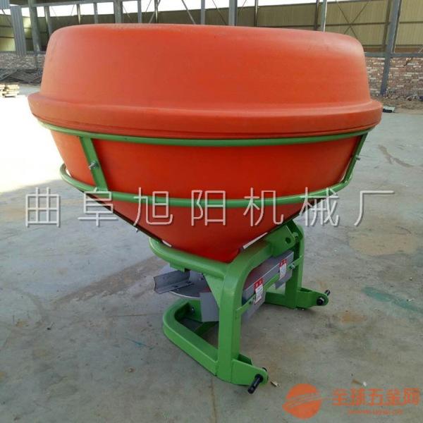 推荐拖拉机后传动撒肥机大型悬挂式圆桶施肥器农业颗粒肥料撒播机