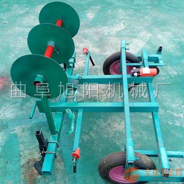 旭阳定制手扶带动打药覆膜机花生种植盖膜机农用多功能地膜机