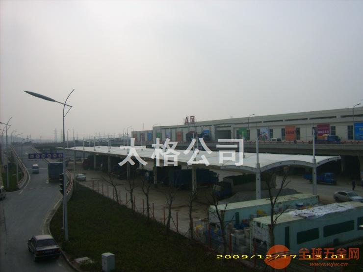 南京众彩物流交易大棚张拉膜结构工程
