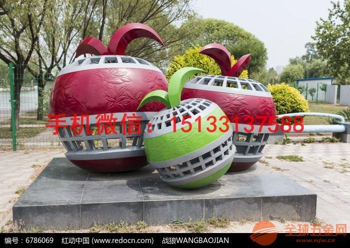 三个苹果不锈钢雕塑 水果不锈钢雕塑 不锈钢雕塑厂家