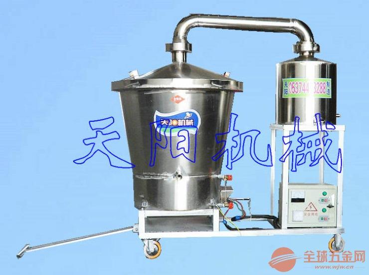 五粮生料酿酒机 双层锅烧酒设备 烤酒技术工艺